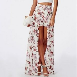 NWT Windsor Floral Shorts with Maxi Skirt